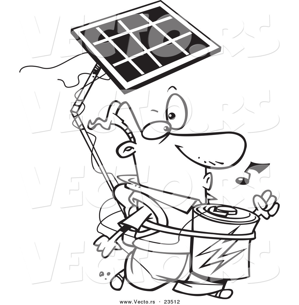 solar power coloring pages