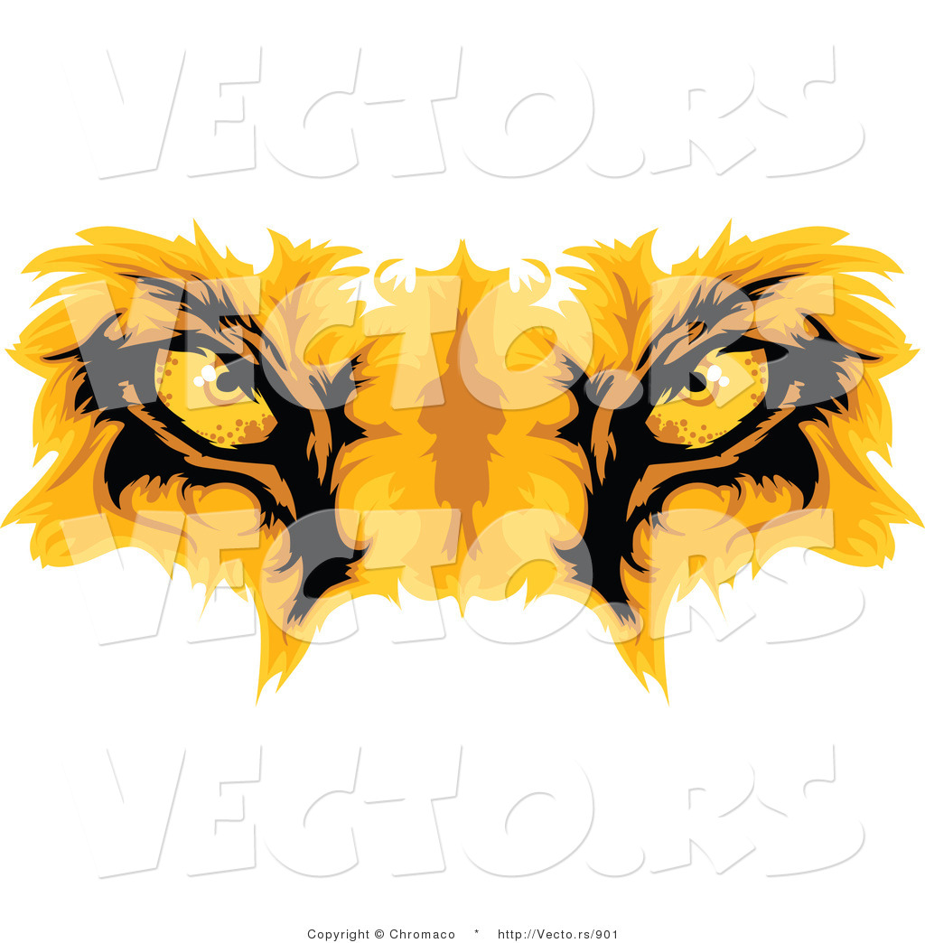 cartoon vector of lion eyes by chromaco 901