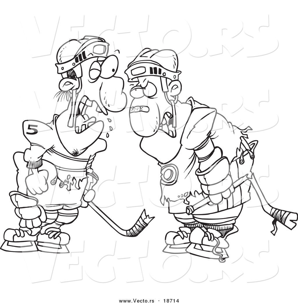 Clip Art Hockey Players Fighting