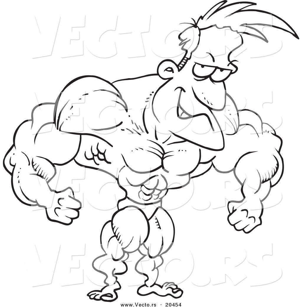 free strong man coloring pages - photo#24