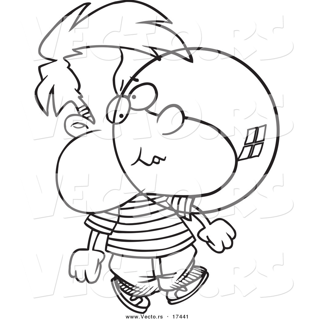 Vector of a cartoon boy blowing bubble gum coloring page for Gum coloring pages