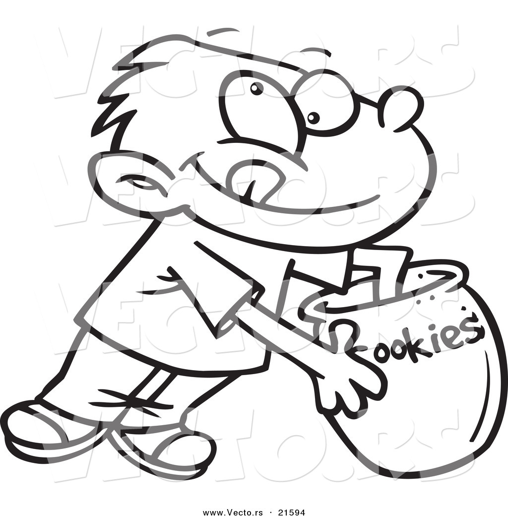 Free Cookie Jar Coloring Page Master Pages