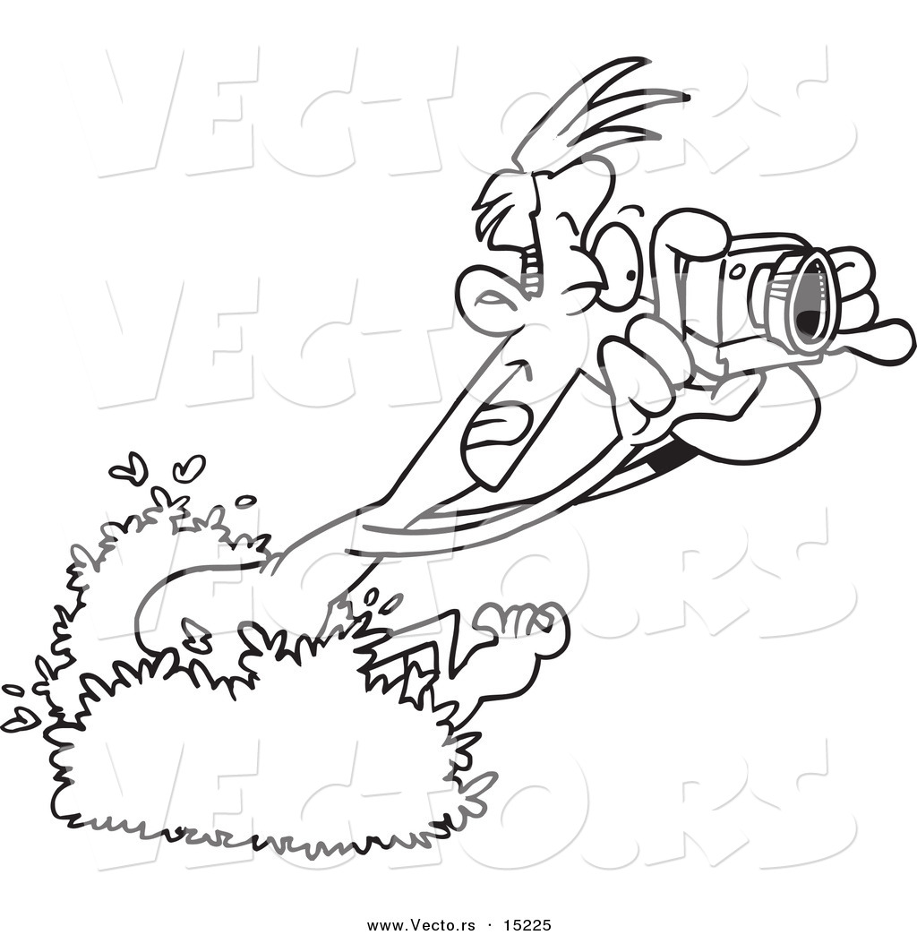 Camera Cartoon Black And White Coloring Coloring Pages