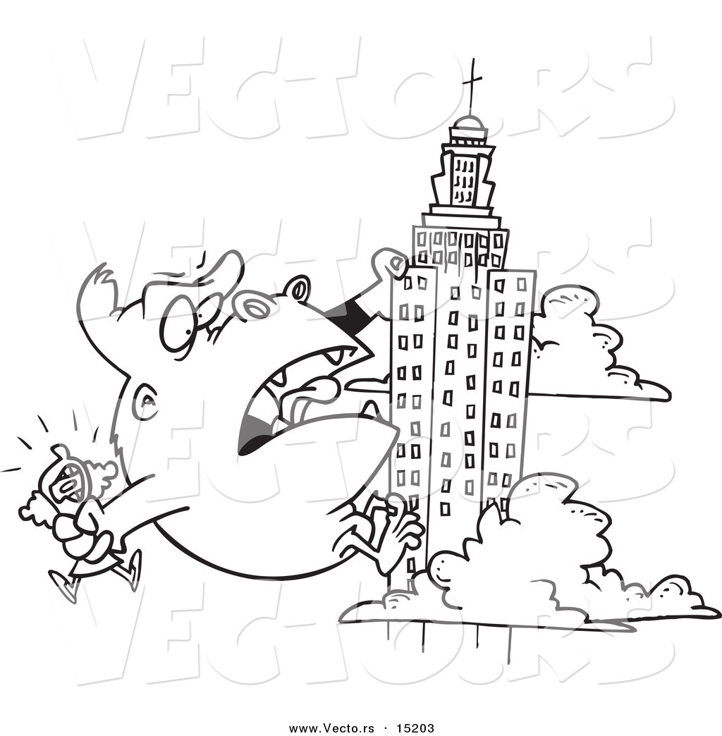 Uncategorized Skyscraper Coloring Page vector of a cartoon black and white outline design kong carrying woman and