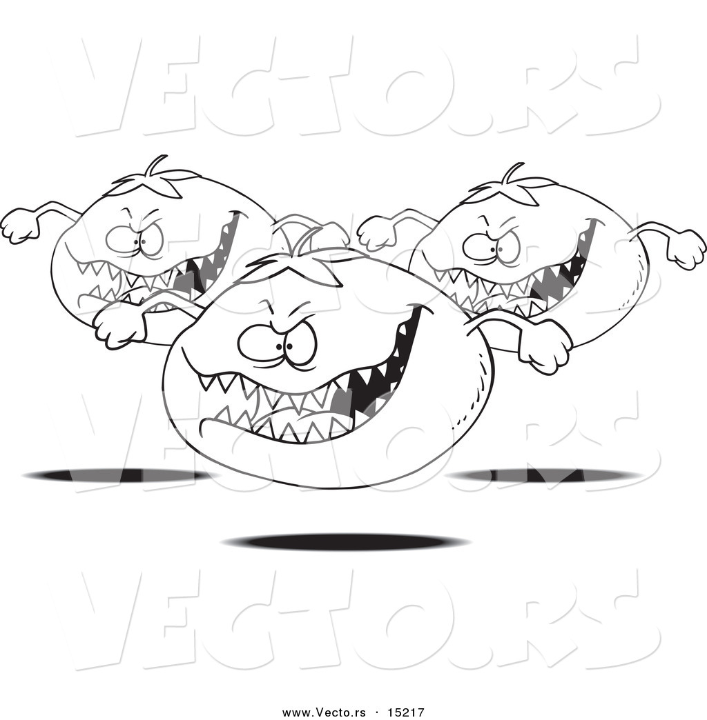 Vector of a Cartoon Cartoon Black and White Outline Design of ...