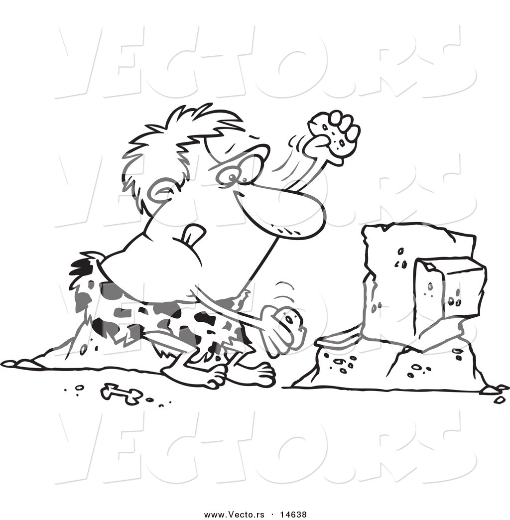 caveman coloring pages - photo#31
