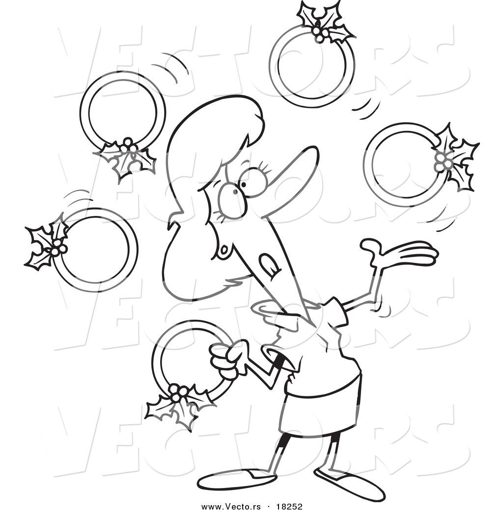 Royalty Free Twelve Days Of Christmas Illustrations