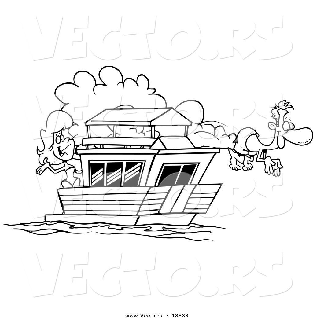 Houseboat Coloring Pages