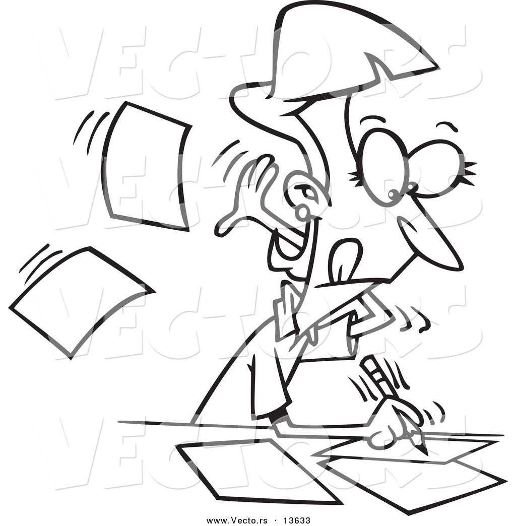 author coloring pages Vector of a Cartoon Fast Author Writing on Pages   Coloring Page  author coloring pages