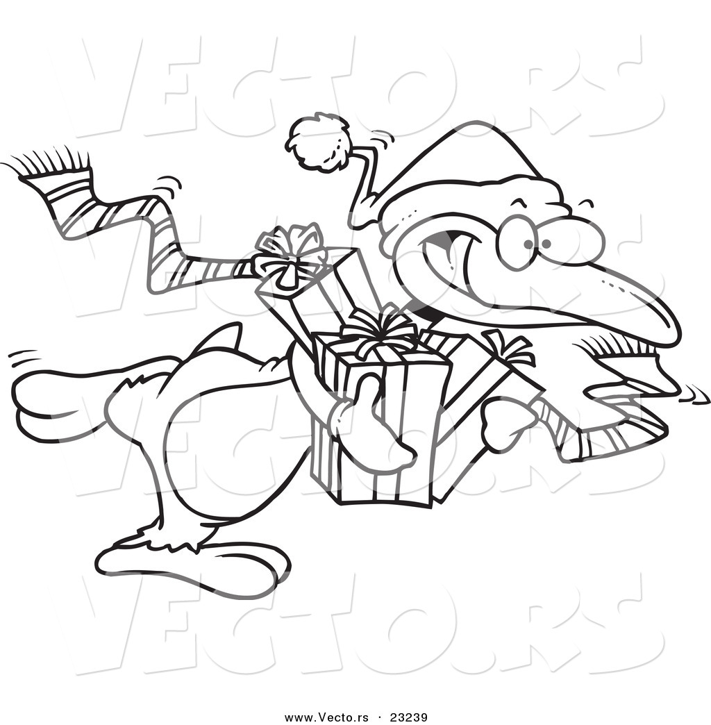 Christmas coloring pages penguins