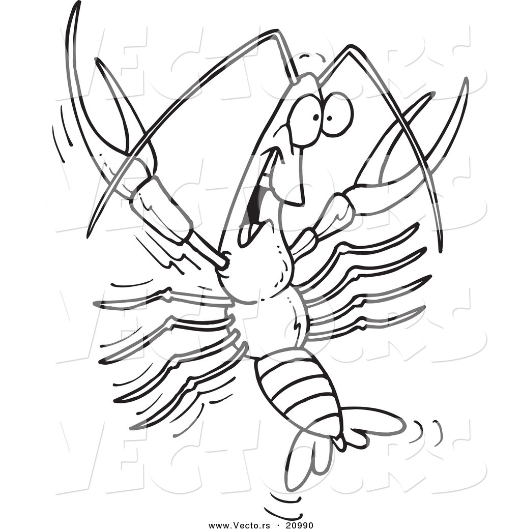 Louisiana Crawfish Coloring Page