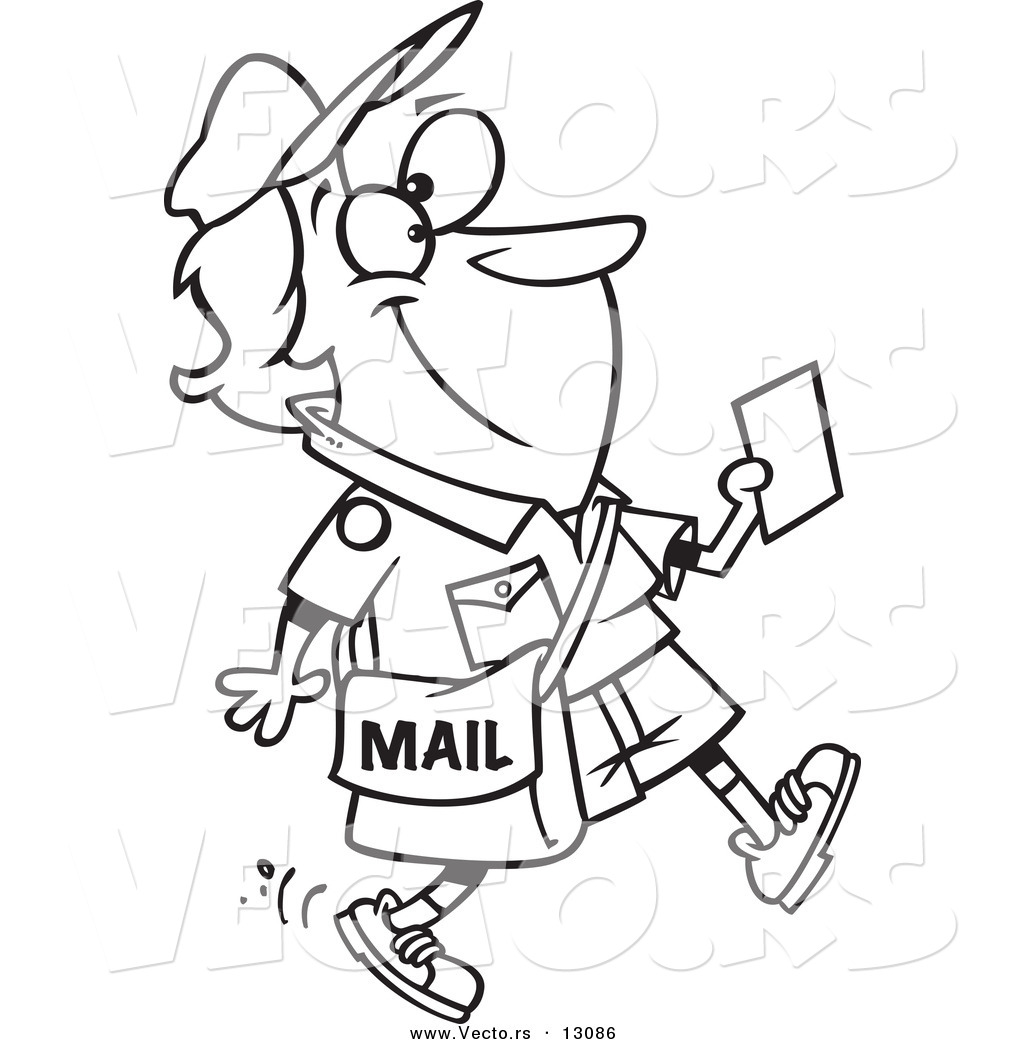 Mail Carrier Coloring Pictures Pages Ideas