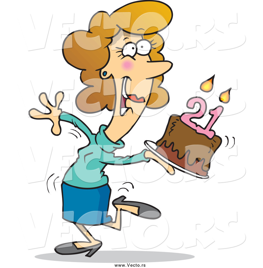 Image Of Person Running On Birthday Cake