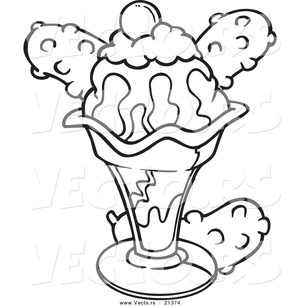 Free coloring pages ice cream