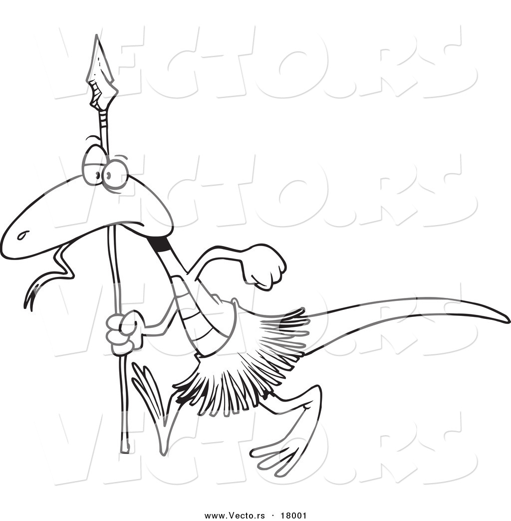 vector of a cartoon lizard guard outlined coloring page by