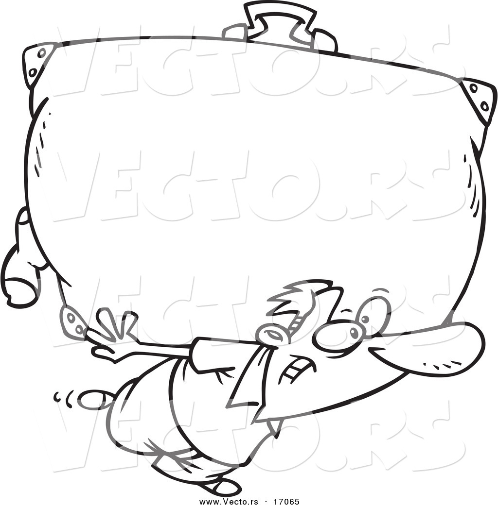vecto rs 1024 vector of a cartoon man carrying a b
