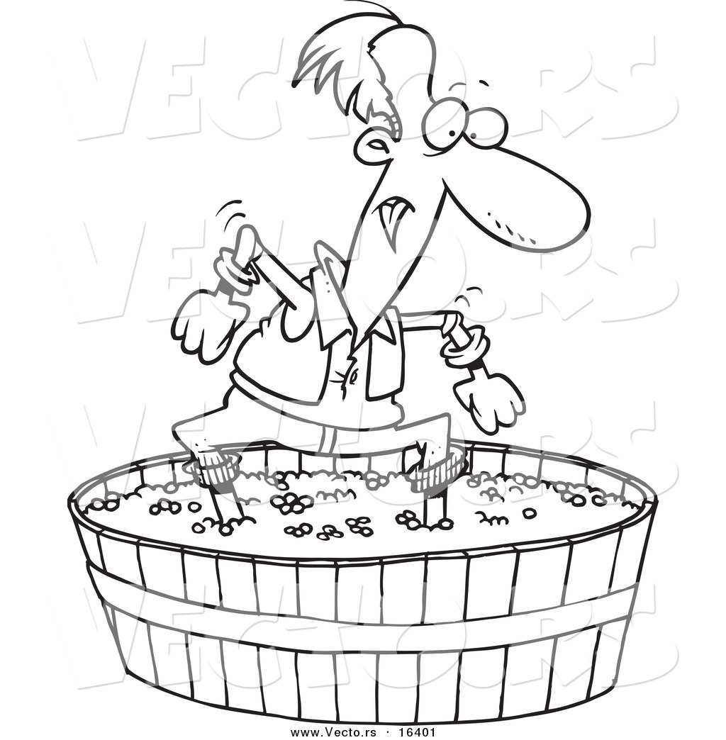 Free coloring page grapes