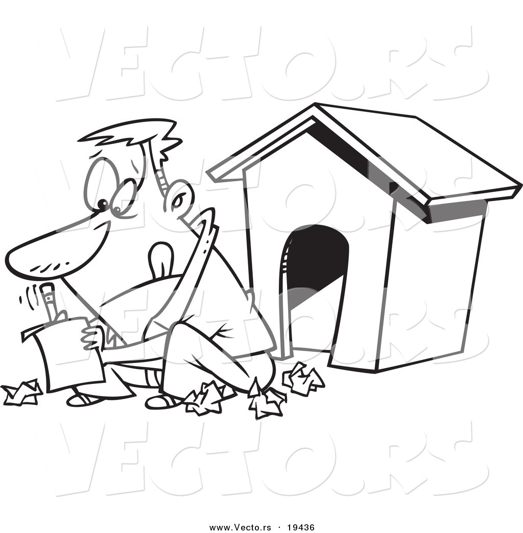 coloring page dog house corpedo com