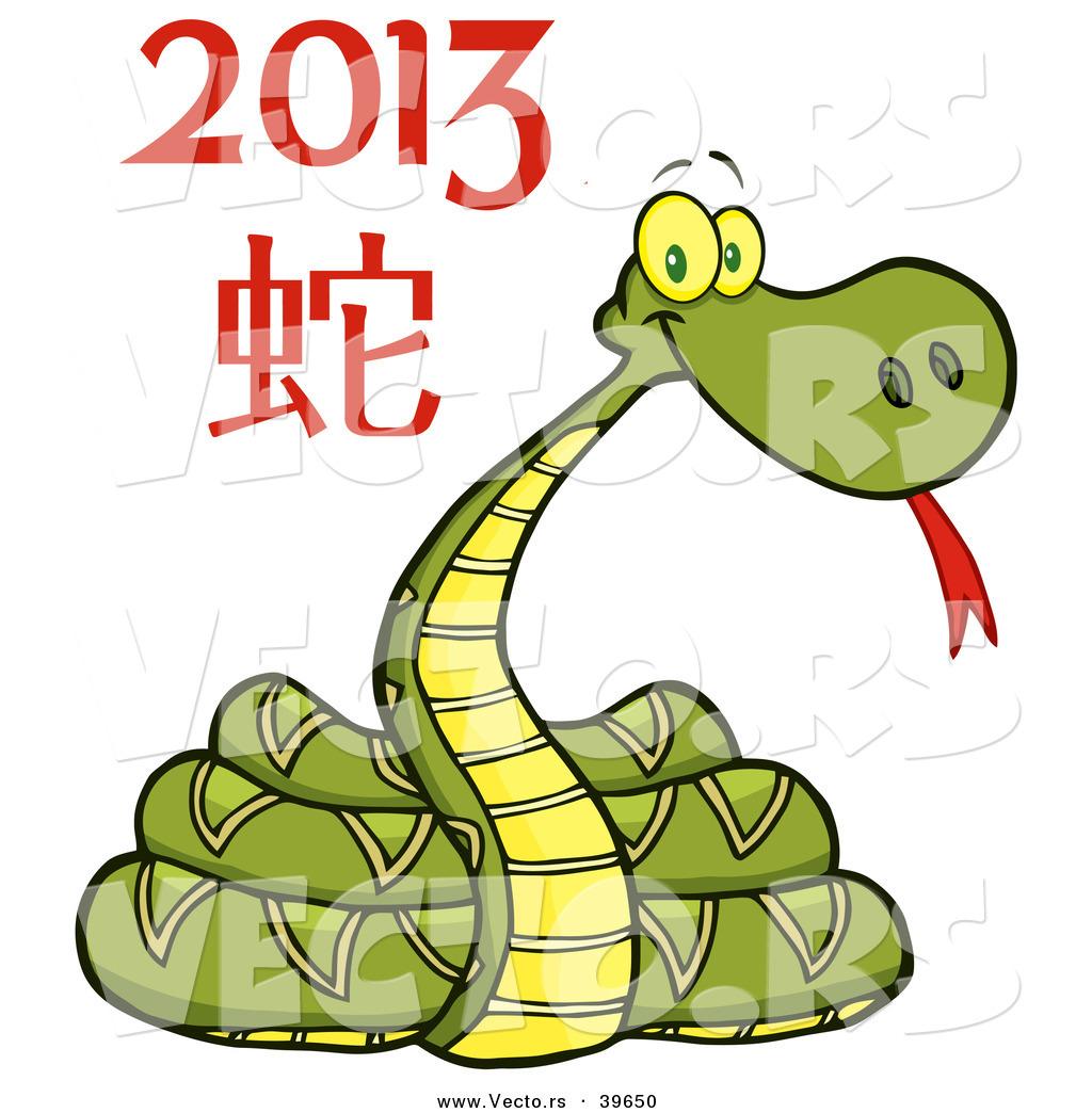 Vector Of A Cartoon New Year 2013 Snake