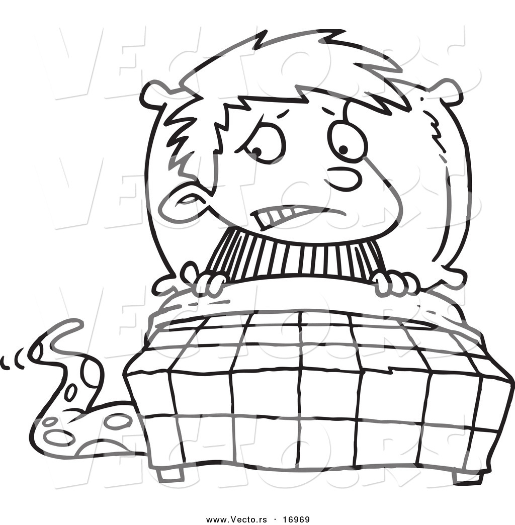 Coloring pages for bedroom -  Outline Of A Boy And Coloring Pages Eume