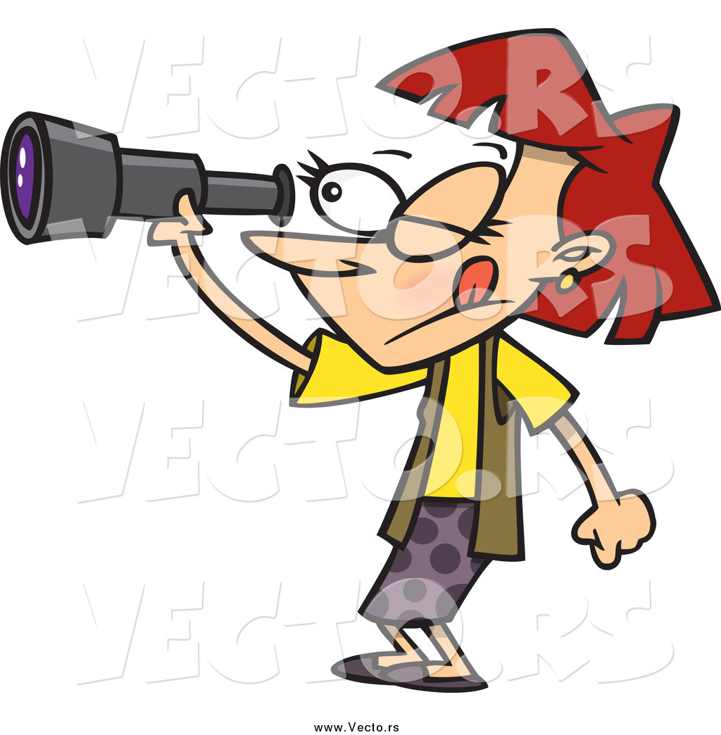 Image result for person with binoculars cartoon
