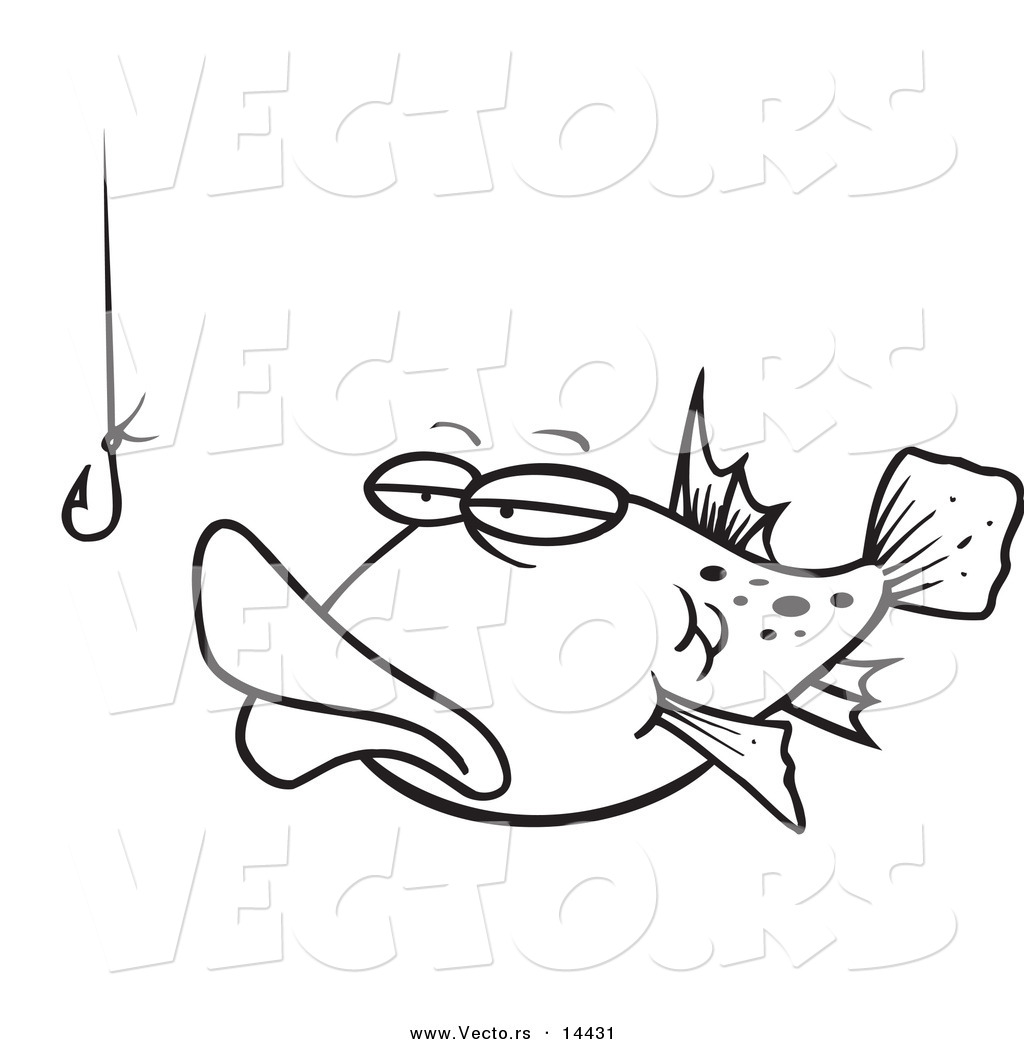 Fish Hooks Printable Coloring Pages - Fun Color Page