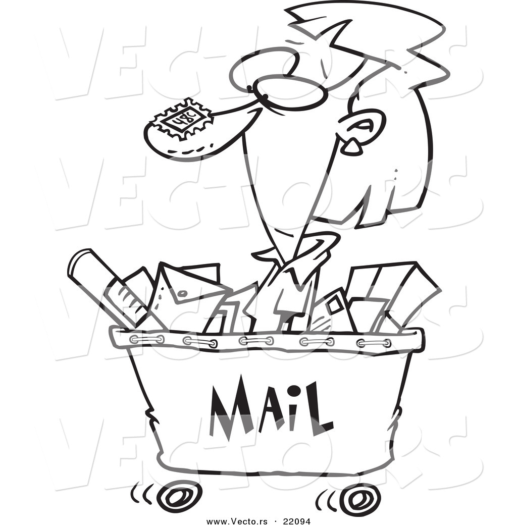 mail coloring pages - photo#31