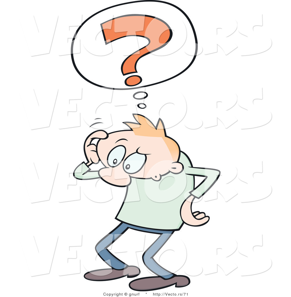 Pics photos clip art cartoon scientist with question mark stock - Vector Of A Confused Cartoon Man Scratching His Head With A Question Mark Thought Cloud