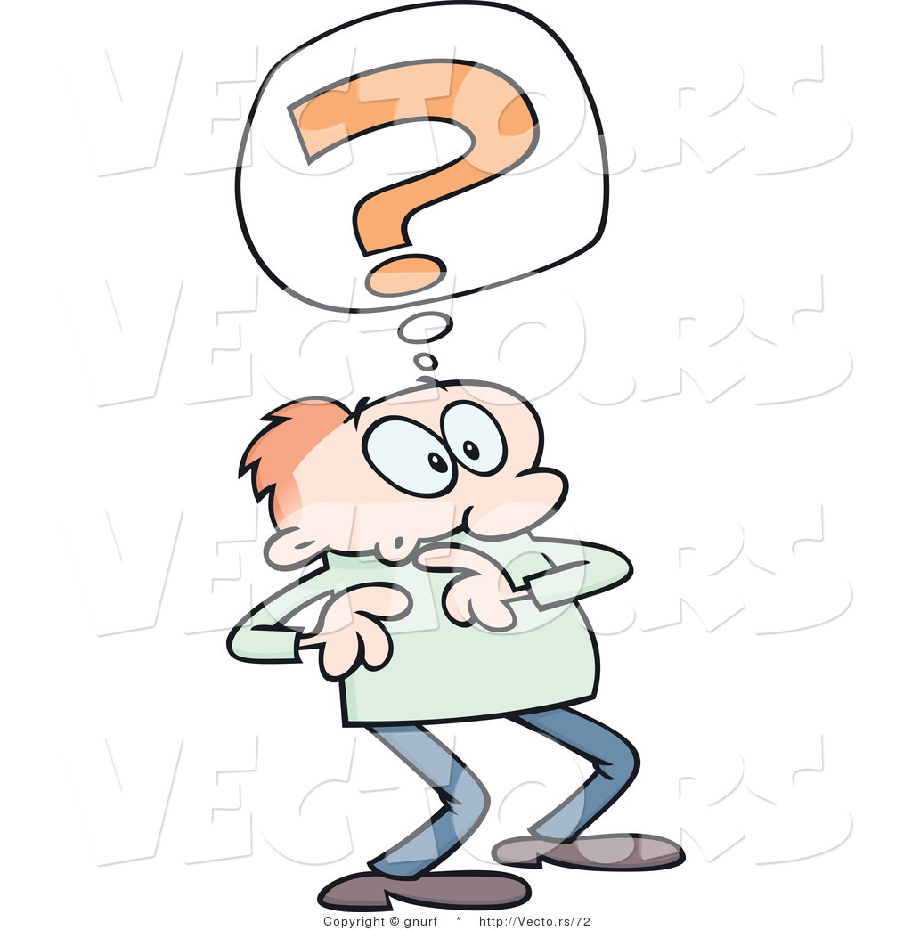 Pics photos clip art cartoon scientist with question mark stock - Vector Of A Confused Cartoon Man With Question Mark