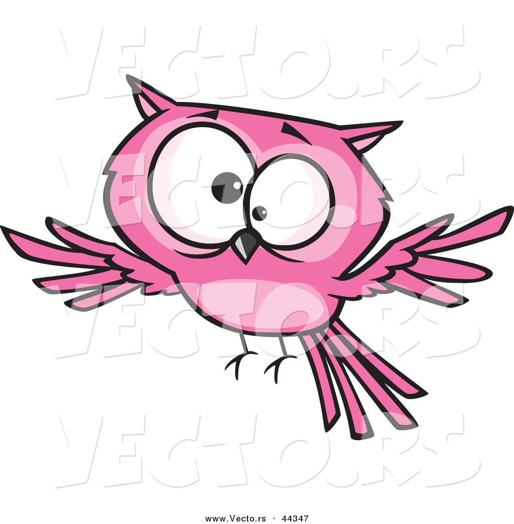 vector of a cross eyed cartoon pink owl by toonaday 44347 rh vecto rs cross eyed cartoon cat cross eyed cartoon pictures