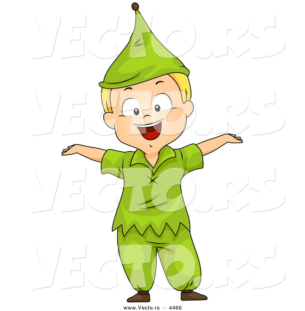 Vector of a Halloween Cartoon Boy Wearing a Dwarf Costume by BNP ...