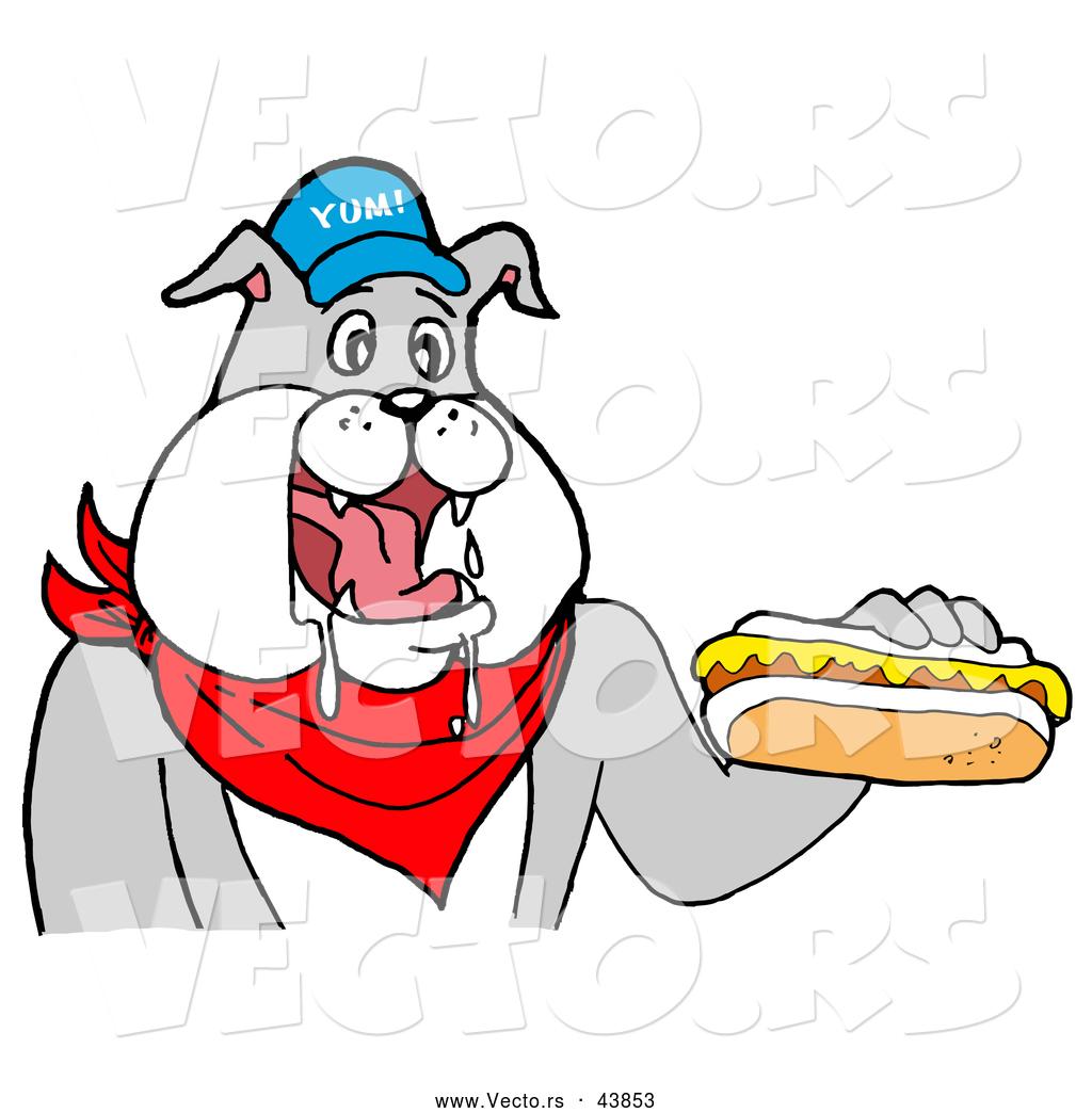 Cartoon Dog Eating Food
