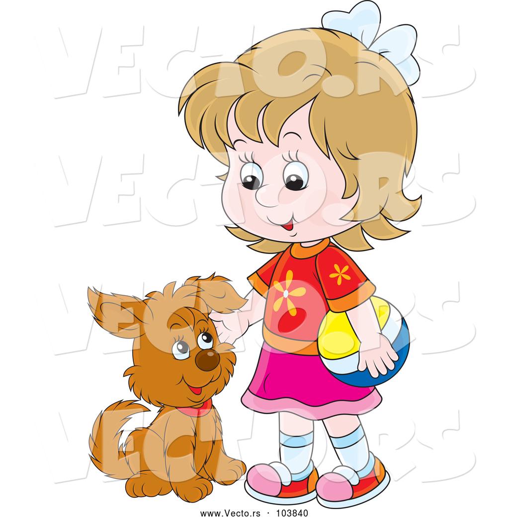 petting dog clip art