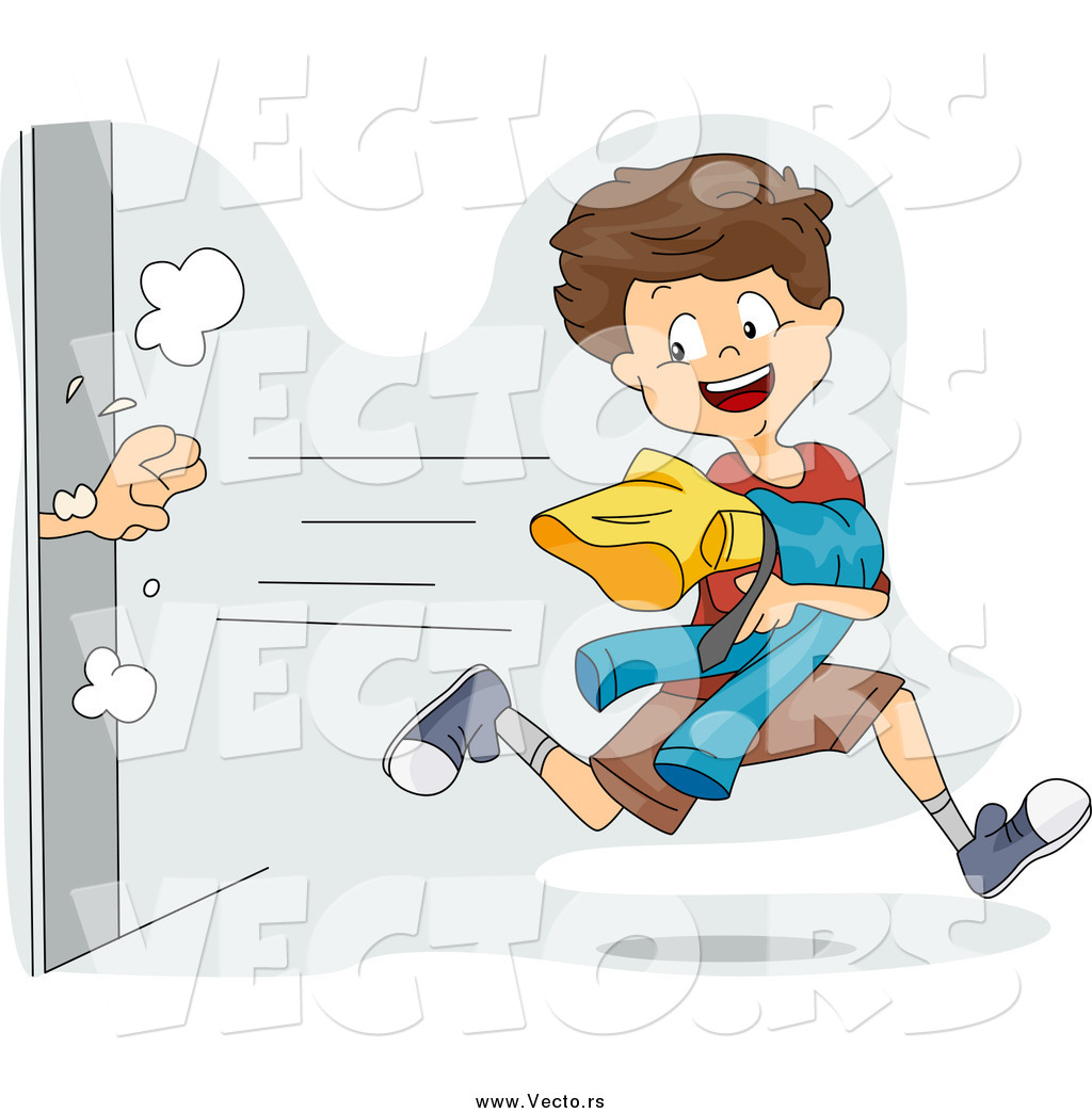 Vector Of A Mischievous Boy Snagging Clothes From Dressing Room