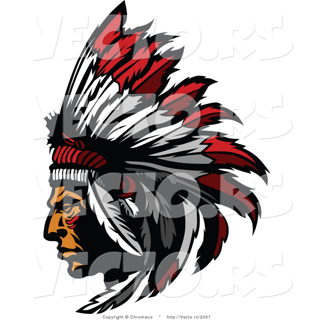 vector of a native american chief wearing feather headdress by rh vecto rs native american vector free download native american vector pattern free