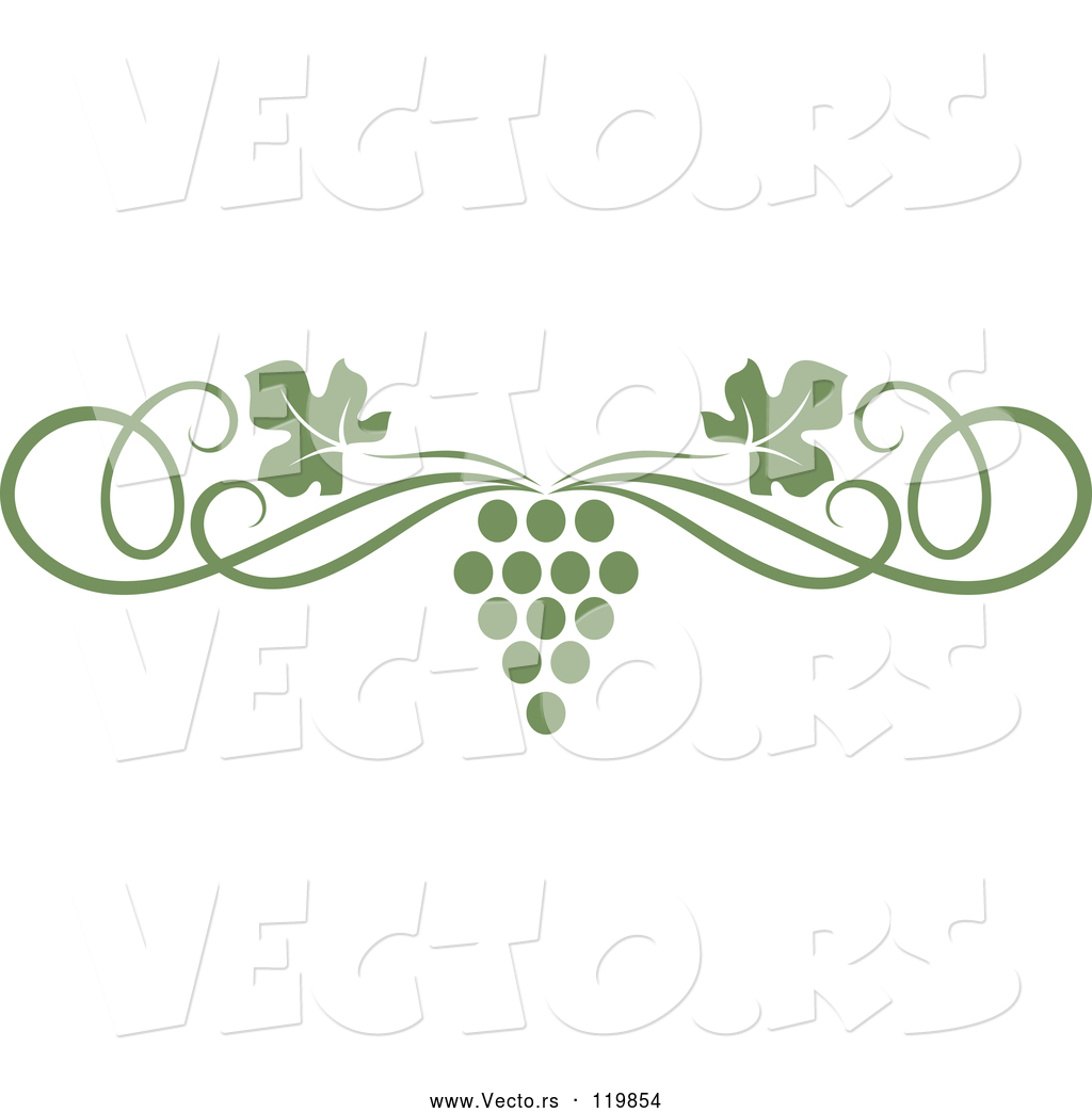 Vector of an olive green grape vine and swirl page border by vector vector of an olive green grape vine and swirl page border thecheapjerseys Image collections