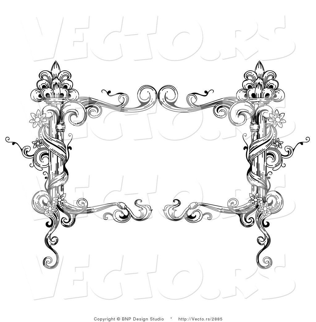 vector of black and white rectangular vintage floral vine frame with rh vecto rs Christian Clip Art Gallery Christmas Bulletin Clip Art