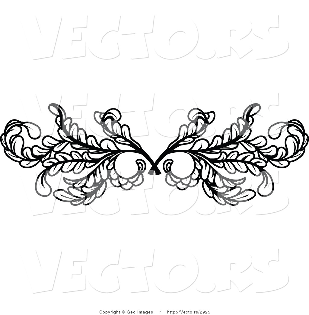 d80b399e5744d Vector of Black Leafy Swirl Butterfly Tattoo Design Element Border  Background