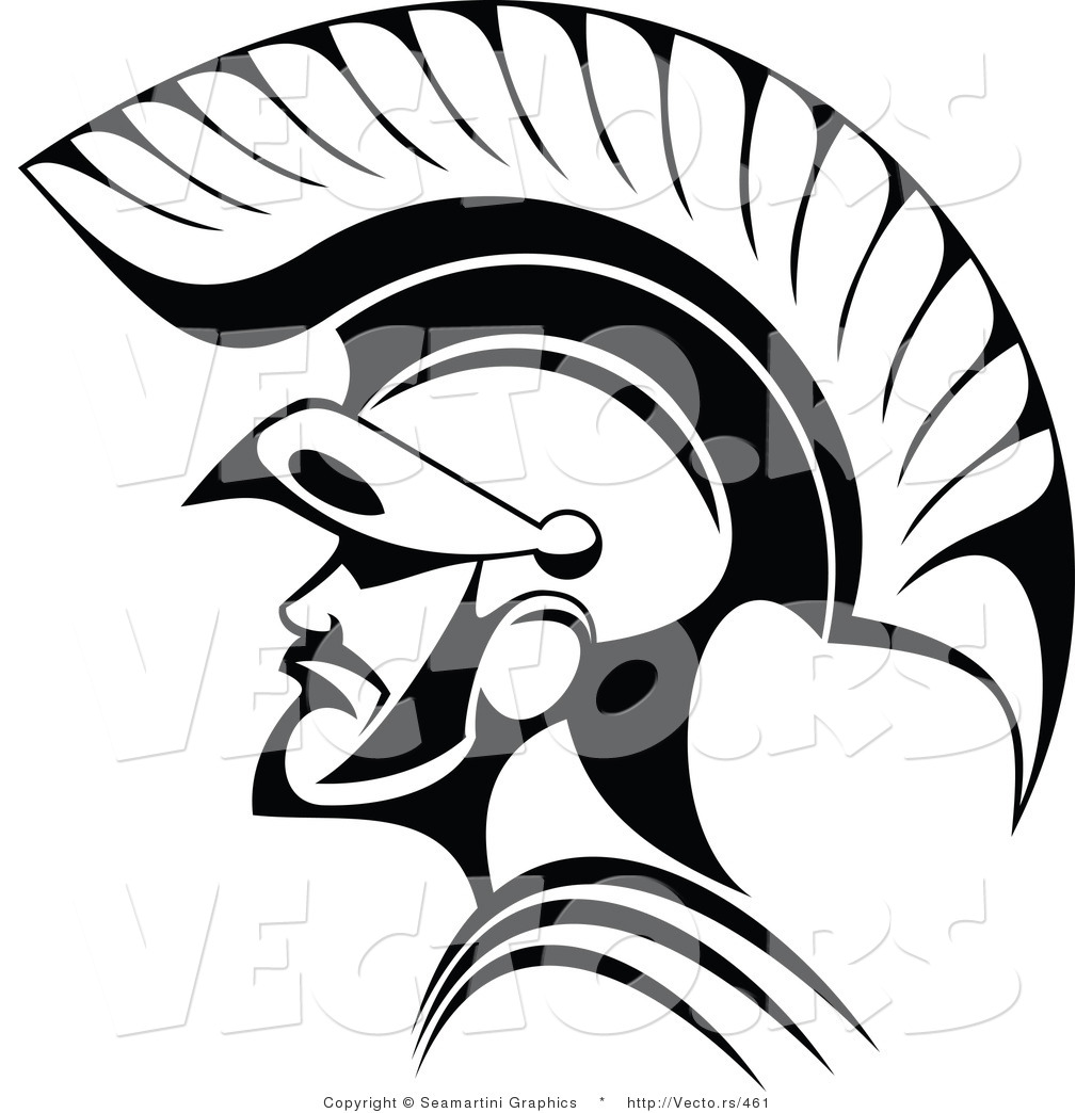 Line Drawing Vector Graphics : Vector of roman soldier line art by tradition sm