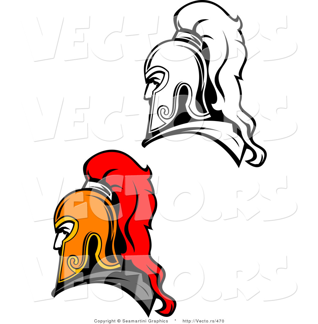 vector of roman soldiers color and line drawing versions by