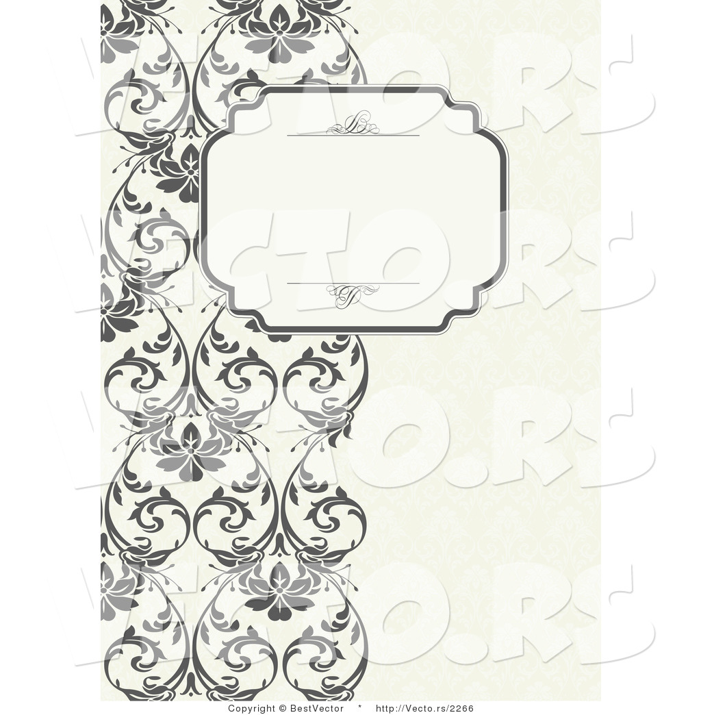 vector of vines border with blank text box by bestvector 2266