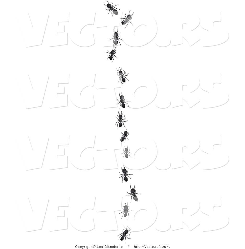vector of worker ants following leader in single file line by leo vector of worker ants following leader in single file line