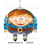 Cartoon Vector of a Happy Christmas Elf Ornament by Toonaday