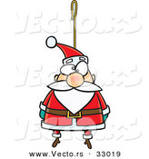 Cartoon Vector of a Santa Ornament for Christmas Tree by Toonaday