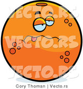 Cartoon Vector of a Sick Navel Orange by Cory Thoman