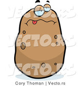 Cartoon Vector of a Sick Potato by Cory Thoman