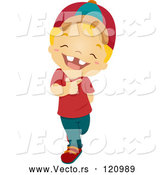 Cartoon Vector of Happy Boy with a Big Grin by BNP Design Studio