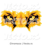 Cartoon Vector of Lion Eyes by Chromaco