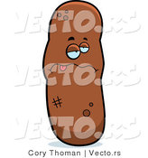 Cartoon Vector of Sick Poop by Cory Thoman
