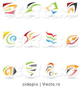 Vector of 12 Colorful Abstract Spirals and Swooshes - Unique Logo Icons by Cidepix